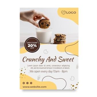 Szablon ulotki pionowej zniżki na pliki cookie