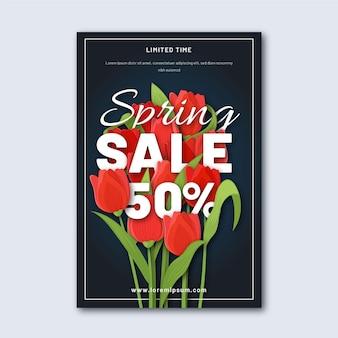 Szablon ulotki płaskiej sprzedaży wiosennej