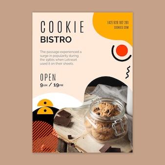 Szablon ulotki plików cookie