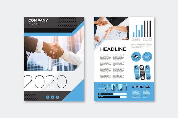 Szablon ulotki prezentacji biznesowych