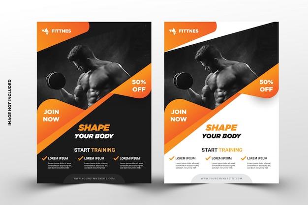 Szablon ulotki promocja siłownia fitness