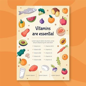 Szablon ulotki promocyjnej zdrowej żywności