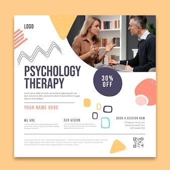 Szablon ulotki psychologicznej terapii kwadratów