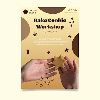 Szablon ulotki pyszne ciasteczka