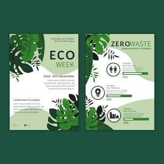 Szablon ulotki reklamowej zero waste