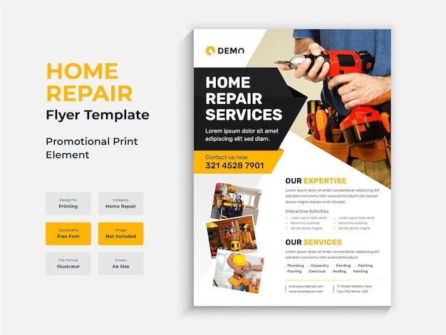 Szablon ulotki remont budowy lub naprawy domu
