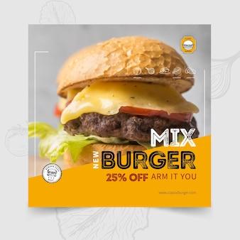 Szablon ulotki restauracji burgery