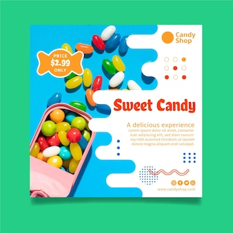 Szablon ulotki sklepu ze słodyczami