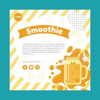 Szablon ulotki smoothie