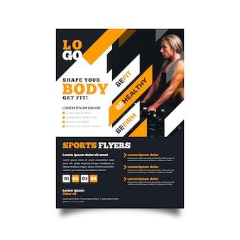 Szablon ulotki sport siłownia