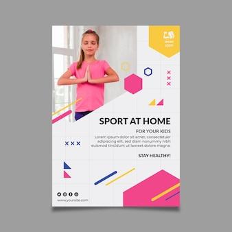 Szablon ulotki sport w domu