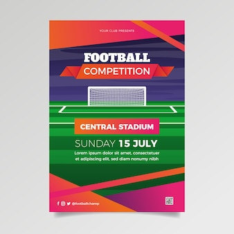 Szablon ulotki sport zawody piłki nożnej