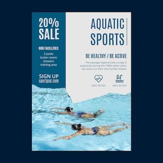Szablon ulotki sportów wodnych