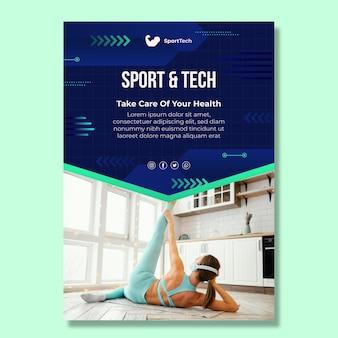 Szablon ulotki sportowej i technicznej