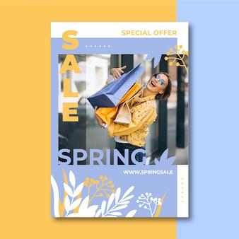Szablon ulotki sprzedaż wiosna