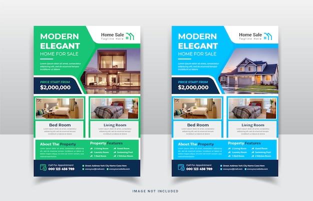 Szablon ulotki sprzedaży domu nieruchomości