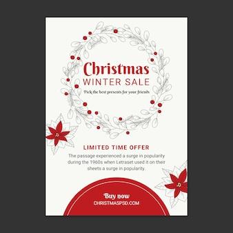 Szablon ulotki sprzedaży świątecznej