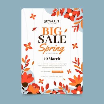 Szablon ulotki sprzedaży wiosennej