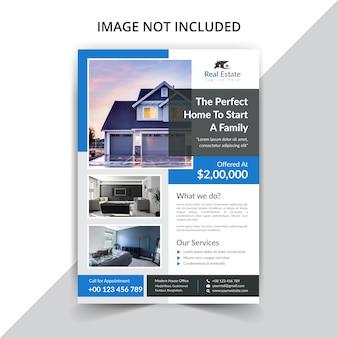 Szablon ulotki stanu rzeczywistego na sprzedaż domu