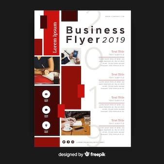 Szablon ulotki streszczenie biznes