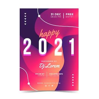Szablon ulotki strony streszczenie nowy rok 2021