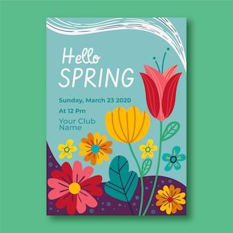 Szablon ulotki strony wiosny