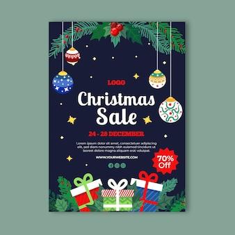 Szablon Ulotki świątecznej Sprzedaży Premium Wektorów