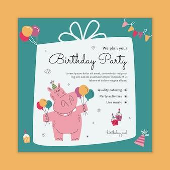 Szablon ulotki urodzinowej dla dzieci
