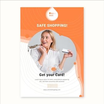 Szablon ulotki usługi zakupów online