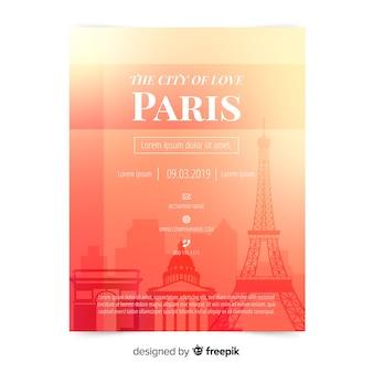 Szablon ulotki w paryżu