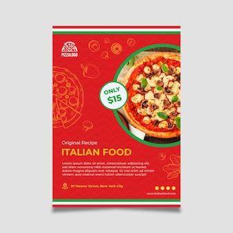 Szablon ulotki włoskiego jedzenia
