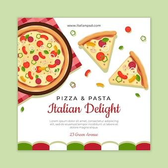 Szablon ulotki włoskiej żywności