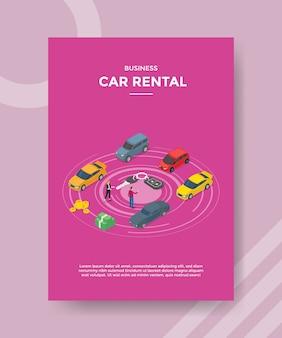 Szablon ulotki wynajmu samochodów biznesowych