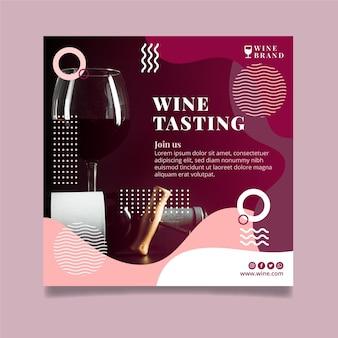 Szablon ulotki z degustacją wina
