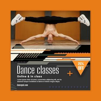 Szablon ulotki z lekcjami tańca