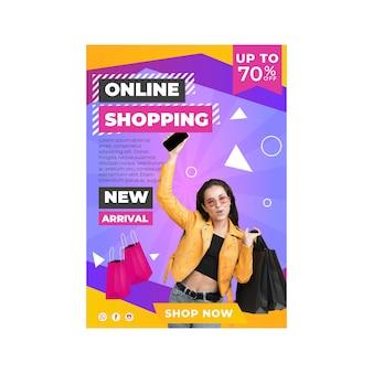 Szablon ulotki zakupów online