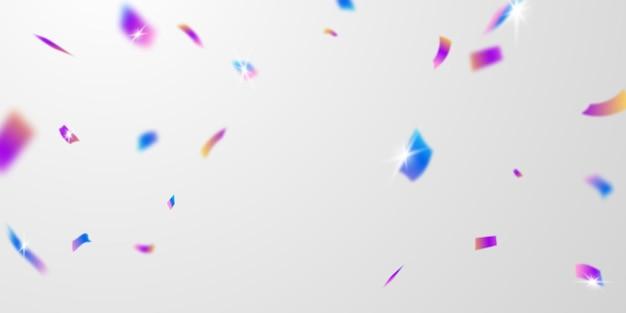 Szablon uroczystości z konfetti