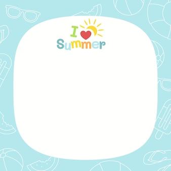 Szablon wakacji letnich