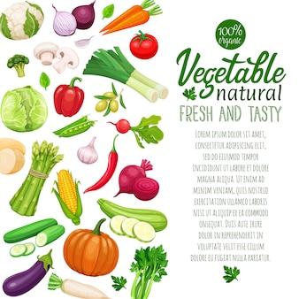 Szablon warzywa