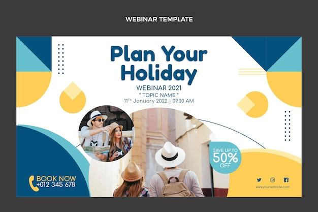 Szablon webinaru na temat planowania wakacji