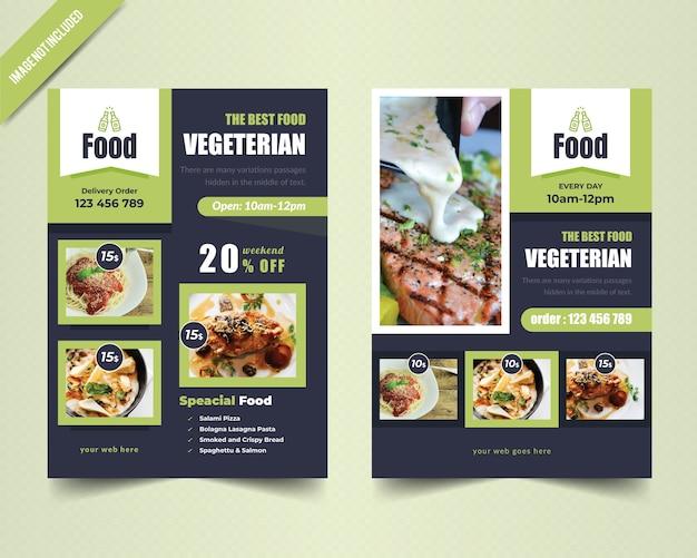 Szablon wegetariańskie ulotki