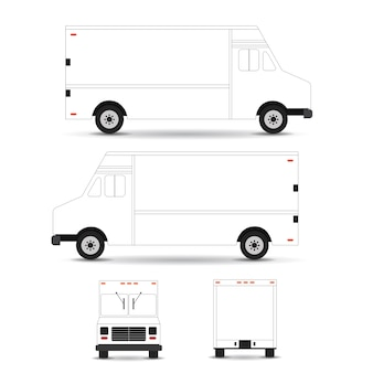 Szablon wektor ciężarówka żywności