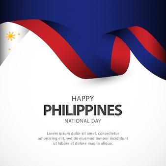 Szablon wektor dzień niepodległości filipin