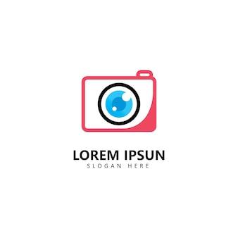 Szablon wektor ikona logo fotografii aparatu