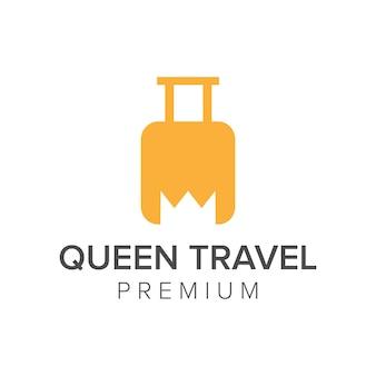 Szablon wektor ikona logo króla podróży