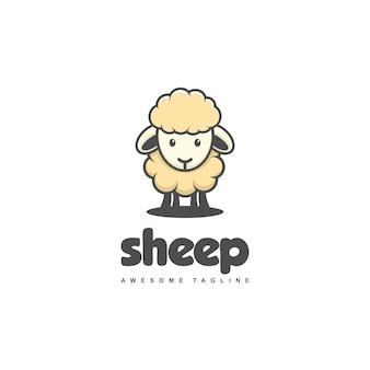 Szablon wektor ilustracja koncepcja owiec