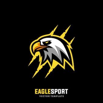 Szablon wektor ilustracja koncepcja sport eagle