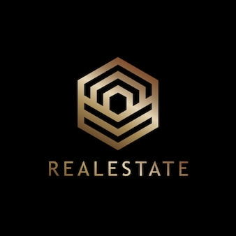 Szablon wektor logo geometryczne nieruchomości