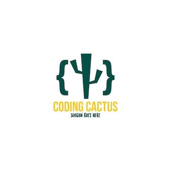 Szablon wektor logo kaktus