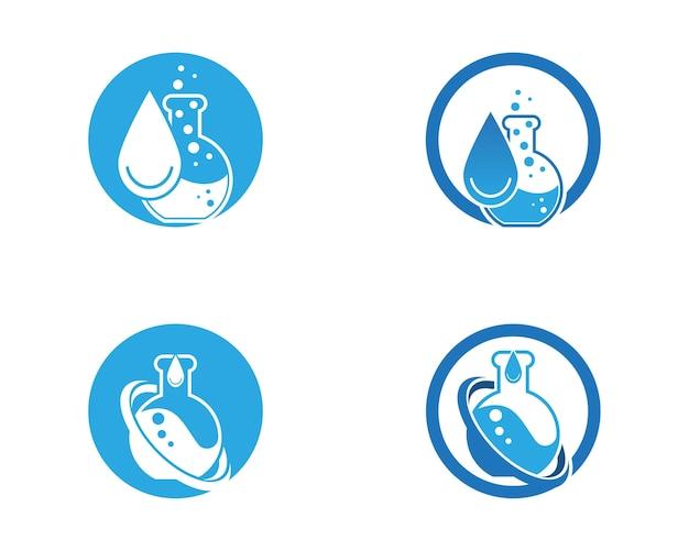 Szablon wektor logo laboratorium